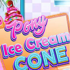 Pony Ice Cream Cone