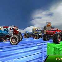 Monster Truck Stunts Sky Driving