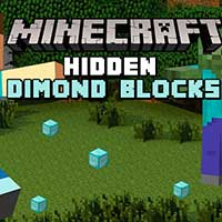Minecraft Hidden Diamond Blocks
